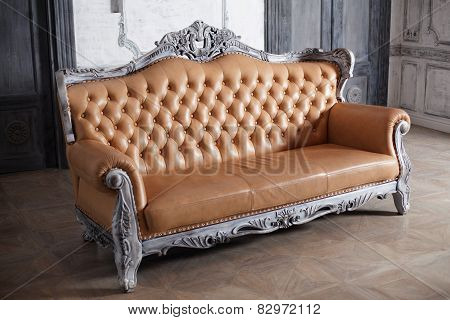 luxury leather sofa style borokko in a beautiful elegant