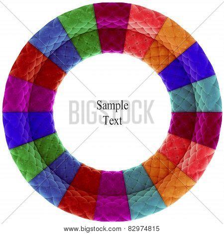Retro velvet circle texture