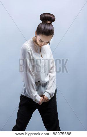Girl Posing. Studio