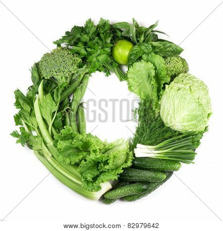 vegetables isolated on white