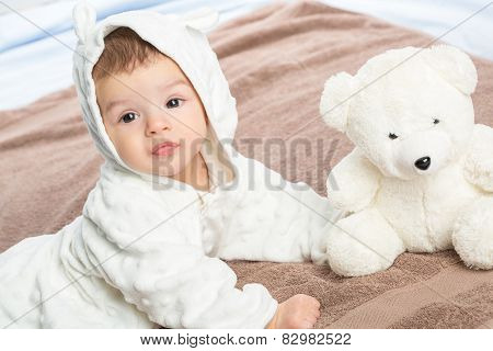 Baby On Towel