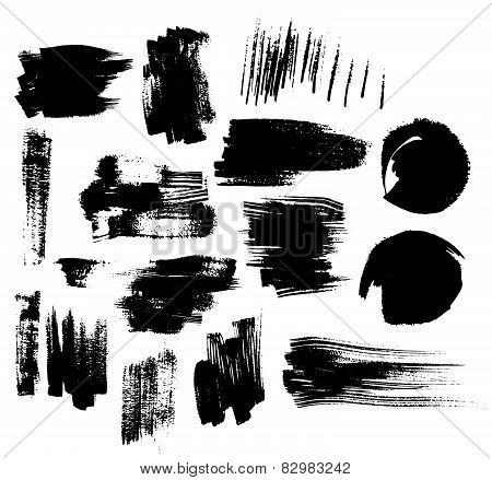 Vector collection of blots