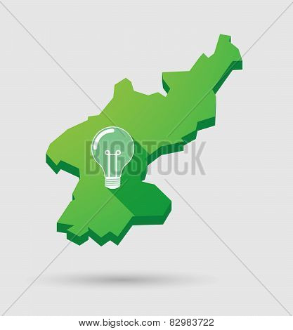 North Korea Map With A