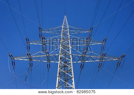 Power pole in close-up