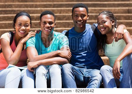 portrait of cute african american university students
