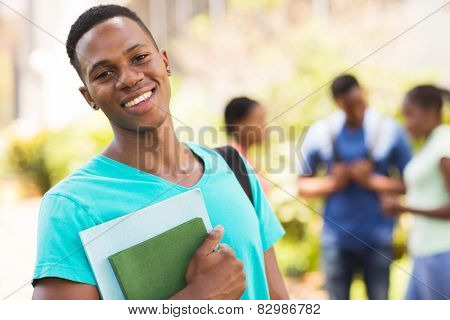 smiling young african male college student