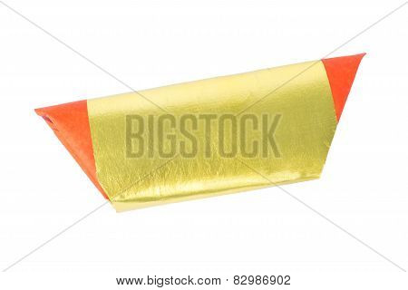 Silver Paper, Gold Paper, Joss Paper For Chinese Celebration, Isolated