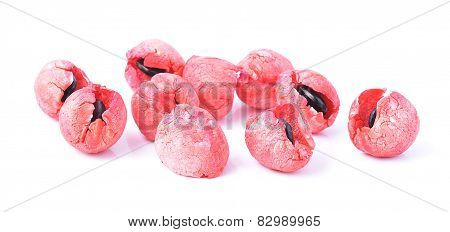Manila Tamarind Fruit On White Background