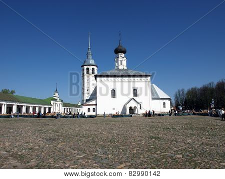 Resurrection Church on the Market Square in the city of Suzdal, Russia