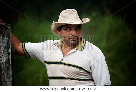 Handsome Male Ranch Hand In Costa Rica