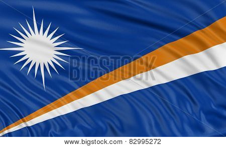 3D flag of Marshall Islands