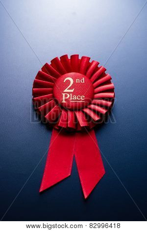 The Prize For Red Place On A Blue Background
