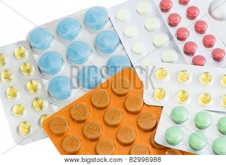 Different Tablets Of Different Colors
