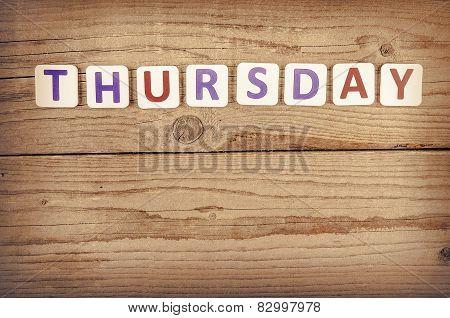 The word THURSDAY