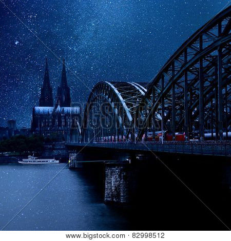 Night Cologne, Germany