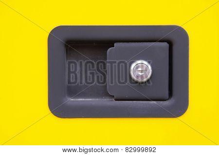 New Lock And Keyhole Closeup