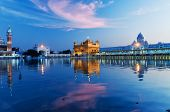 image of punjabi  - Golden Temple (Harmandir Sahib also Darbar Sahib) in the evening at sunset. Amritsar. Punjab. India