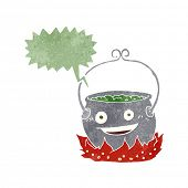 image of witches cauldron  - cartoon witch - JPG