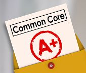 pic of common  - Common Core report card evaluating the performance and success of the new school or education guidelines and standards - JPG