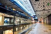 picture of mall  - modern bright shopping mall indoor architecture - JPG