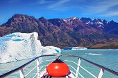 stock photo of iceberg  - Ice and sun Patagonia - JPG