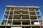 pic of slab  - Reinforced concrete slabs of a residential building under construction - JPG