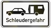 picture of slip hazard  - German traffic sign additional panel to specify the meaning of other signs - JPG