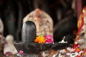 stock photo of lingam  - A small black shiva - JPG