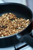 pic of ground nut  - Ground nuts mix dry frying in the pan on stove