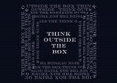 stock photo of thinking outside box  - Chalk drawing  - JPG