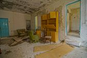 stock photo of deserted island  - Interior Of An Abandoned House in Canary Islands Spain - JPG