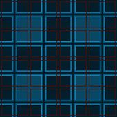 picture of cell block  - Mosaic tiles and blue seamless pattern cells - JPG