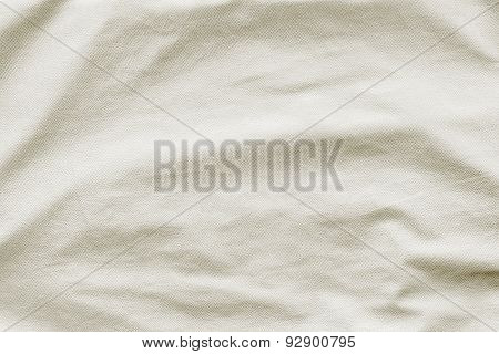 Cream Leather With Crumpled Grained Texture