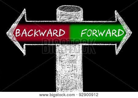 Opposite Arrows With Backward Versus Forward