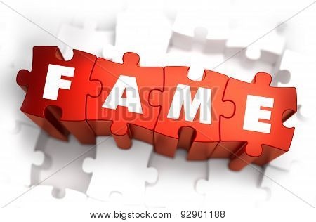 Fame - Text on Red Puzzles.
