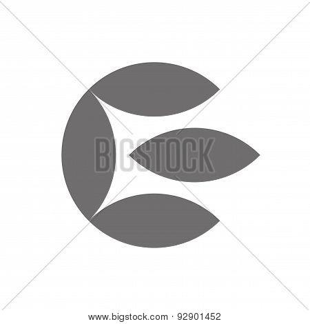 Letter E Logo Concept Icon. Vector