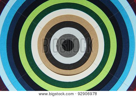 Background Texture Of Colored Paper Into Circles