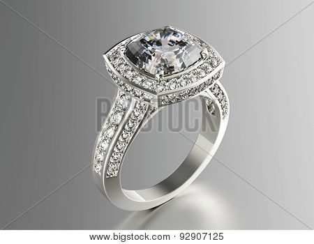 Ring with Diamond. Jewelry background
