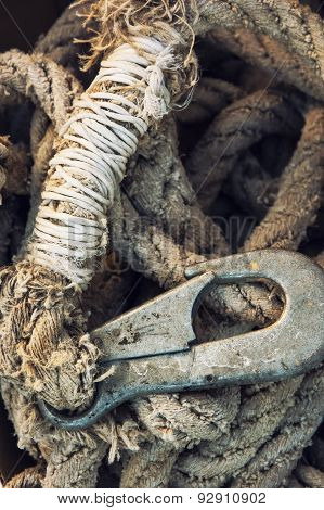 Rope With Rusty Hook