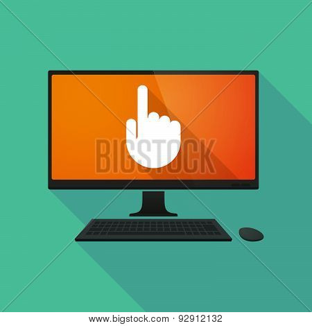 Personal Computer With A Pointing Hand