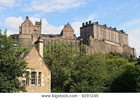 Edinburgh Castle, Scotland, From King's Stables Road.