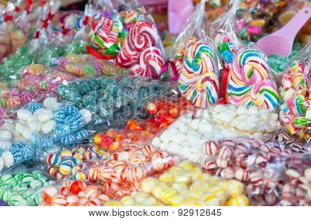 colorful bonbons and sweets