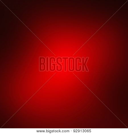 Abstract Red Background Or Christmas Paper With Bright Center Spotlight And Black Vignette Border Fr