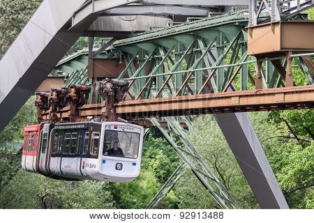 The Wuppertal Suspension Railway in Germany