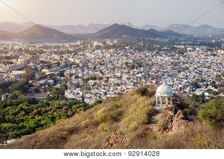 Udaipur City View In India