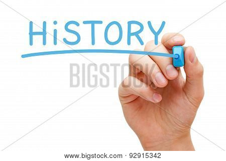 History Blue Marker
