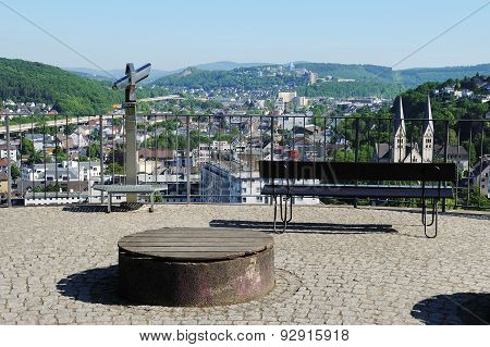 Upper Castle In Siegen With City Panorama