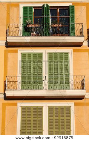 Squared Windows with Balcony