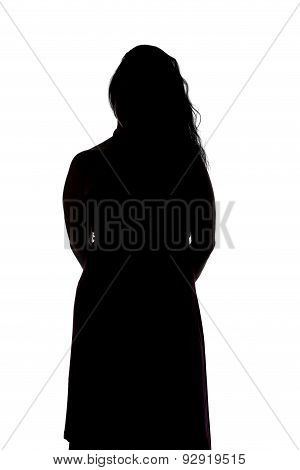 Image of silhouette curvy woman
