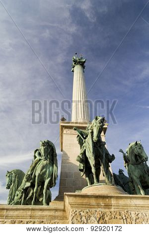 Column In Heroes Square, Budapest
